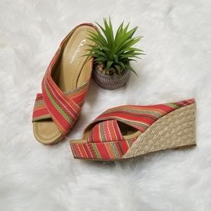 CL by Laundry Colorful Wedges Style Drama